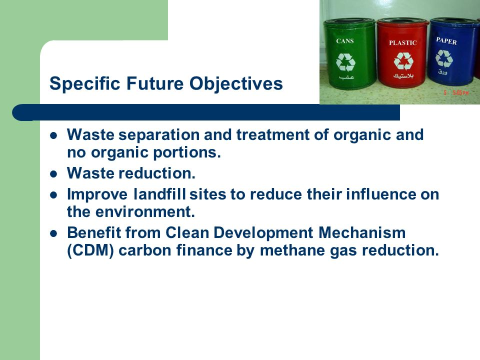 Specific Future Objectives
