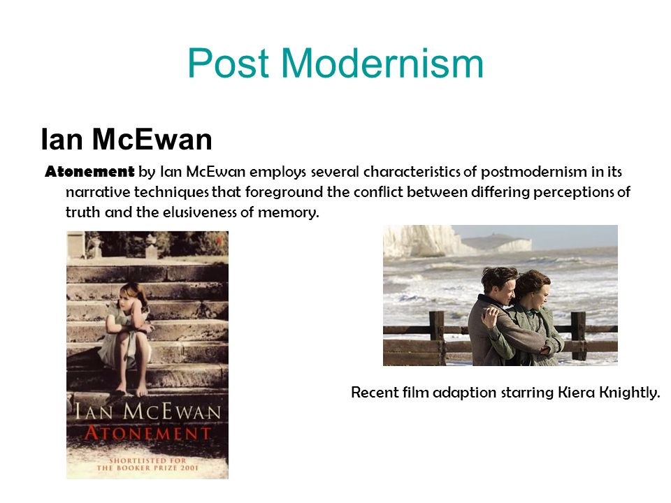 Post Modernism Ian McEwan