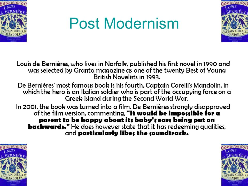 modernism and the first world war Modernism and the modern novel the term modernism refers to the radical shift in aesthetic and cultural sensibilities evident in the art and literature of the post-world war.