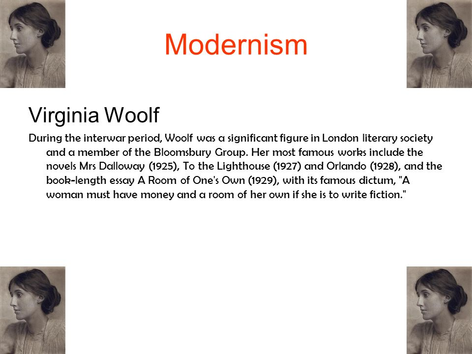 Modernism Virginia Woolf