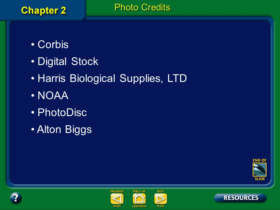 Harris Biological Supplies, LTD NOAA PhotoDisc Alton Biggs