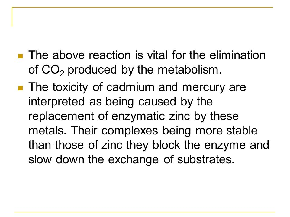 The above reaction is vital for the elimination of CO2 produced by the metabolism.
