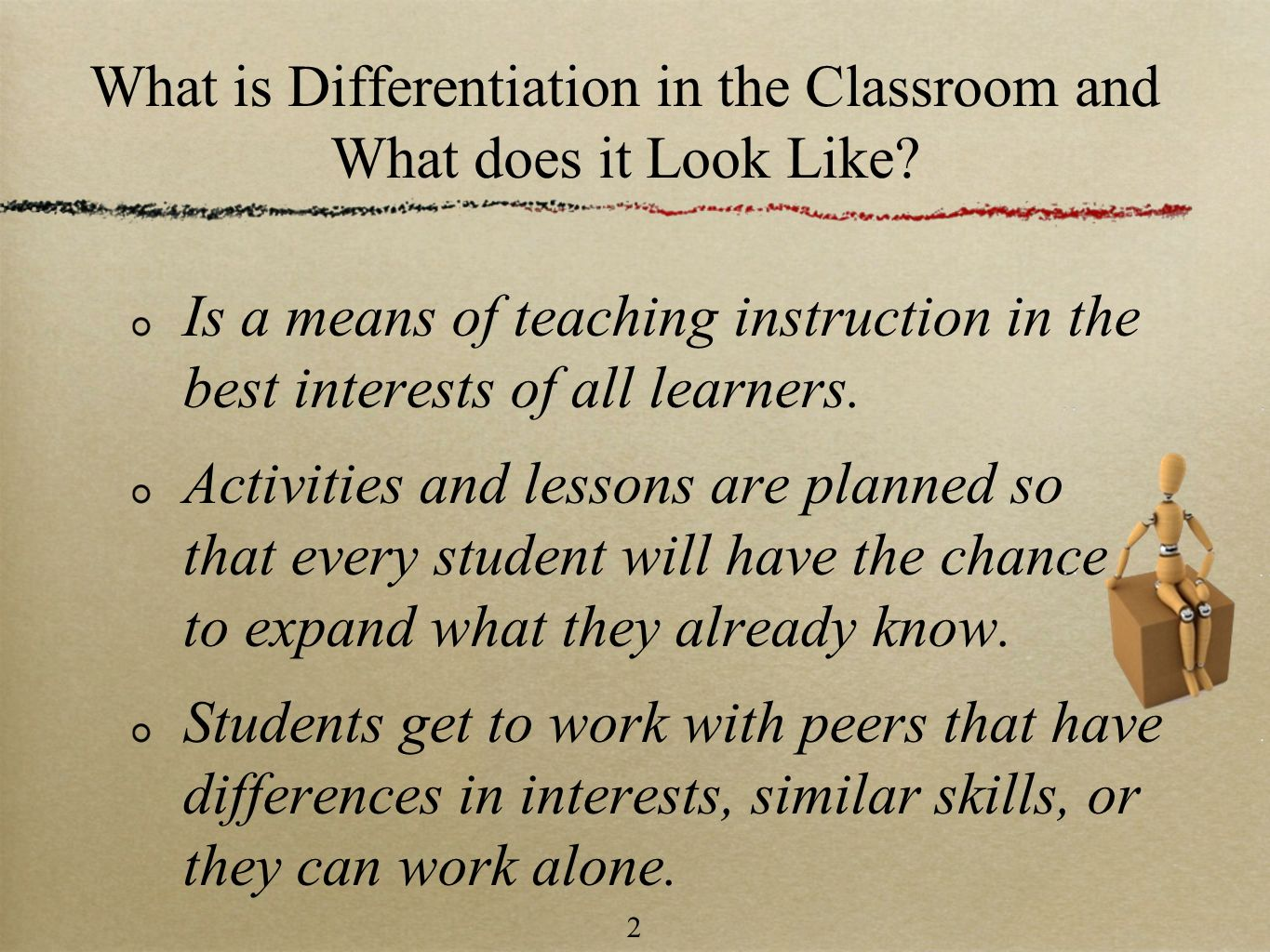 What is Differentiation in the Classroom and What does it Look Like