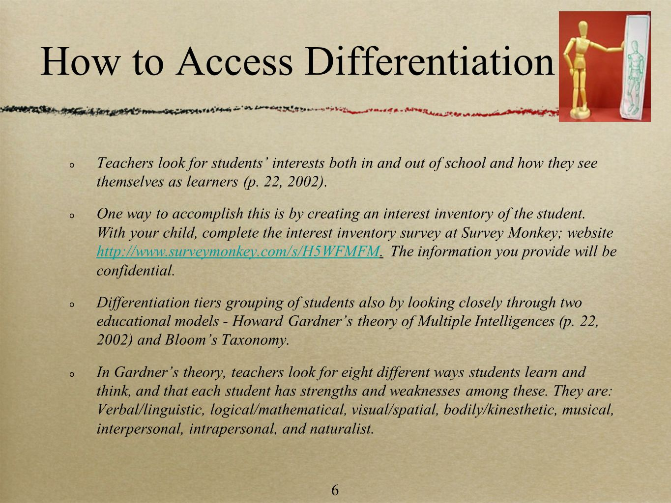 How to Access Differentiation
