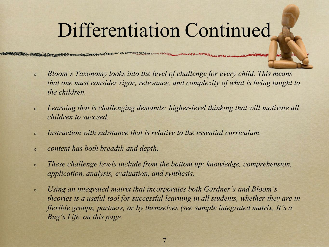 Differentiation Continued