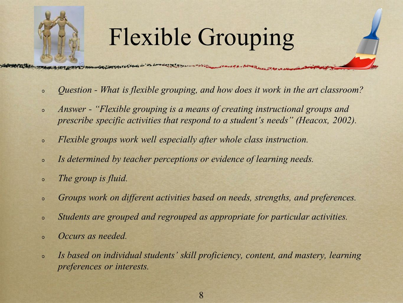 Flexible Grouping Question - What is flexible grouping, and how does it work in the art classroom