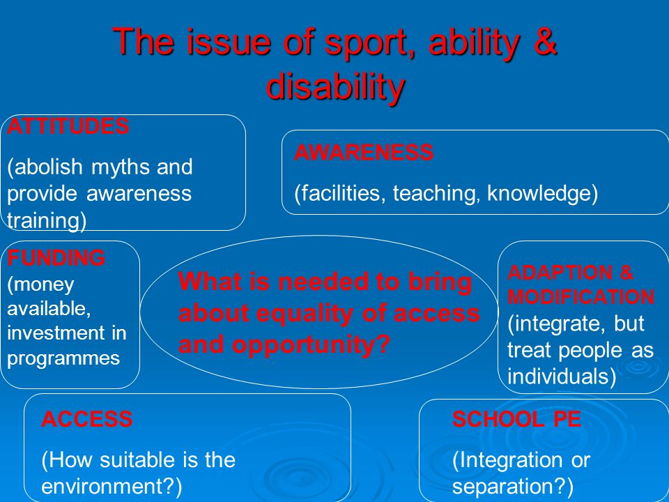 The issue of sport, ability & disability