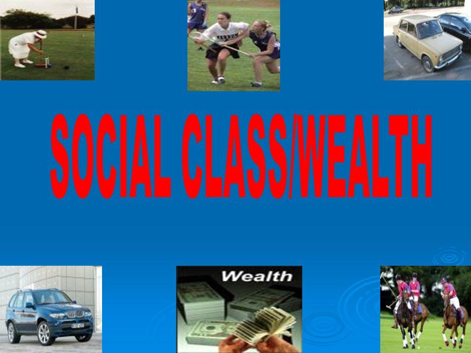 SOCIAL CLASS/WEALTH