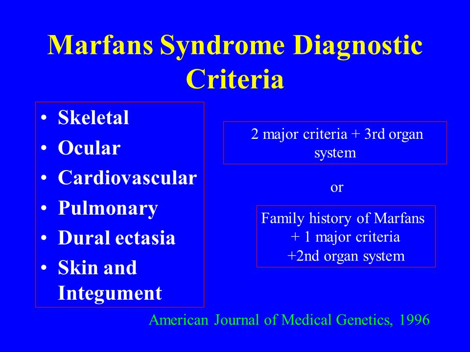 Marfans Syndrome Diagnostic Criteria