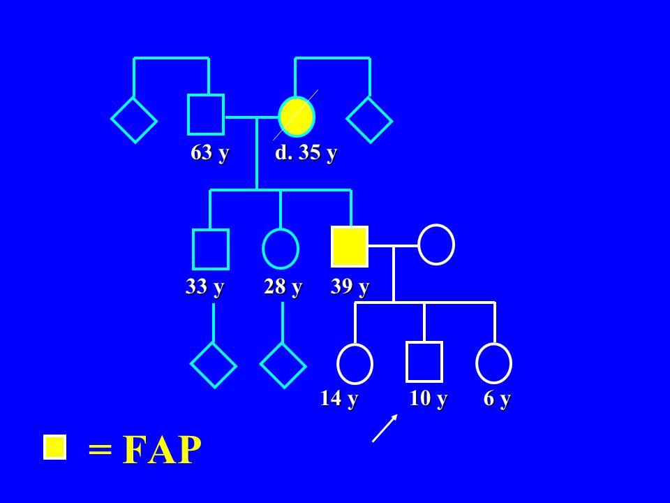 63 y d. 35 y 33 y 28 y 39 y 14 y 10 y 6 y = FAP