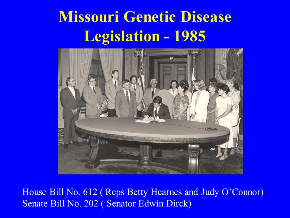 Missouri Genetic Disease Legislation - 1985