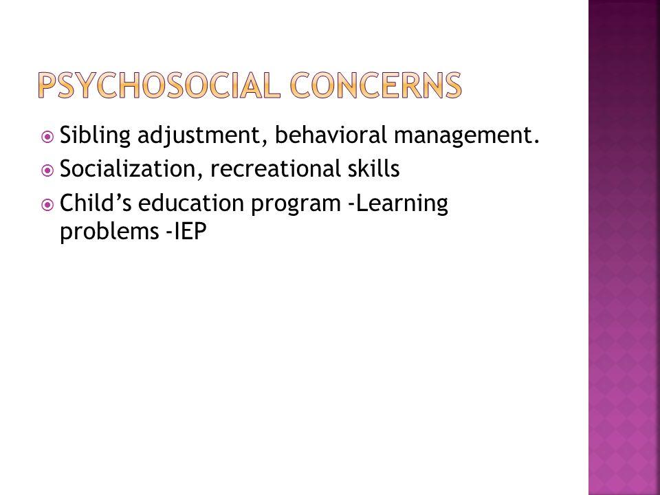 Psychosocial concerns