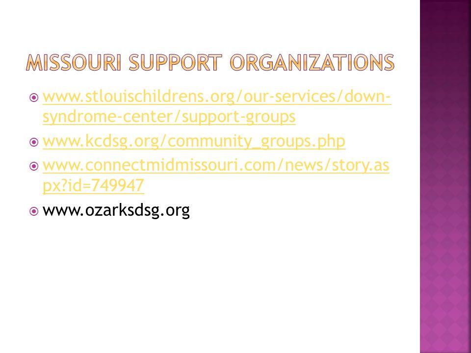 Missouri support organizations
