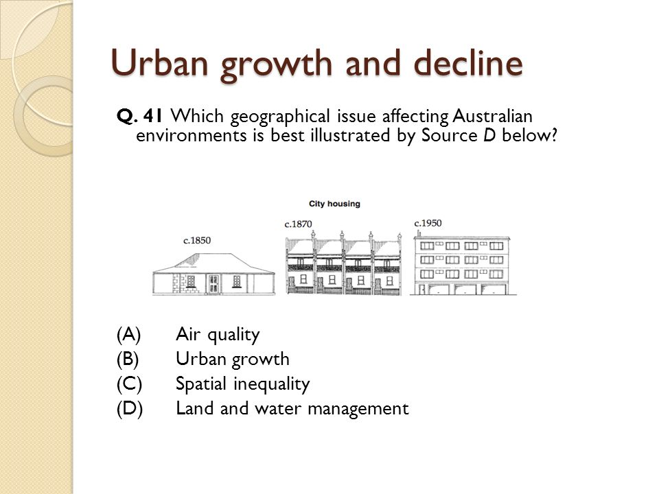 Urban growth and decline