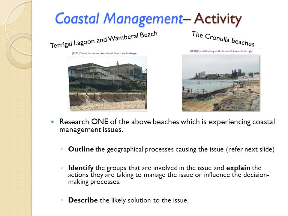 Coastal Management– Activity