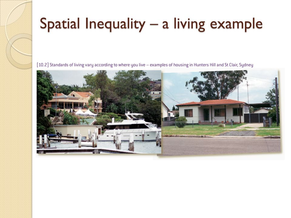 Spatial Inequality – a living example