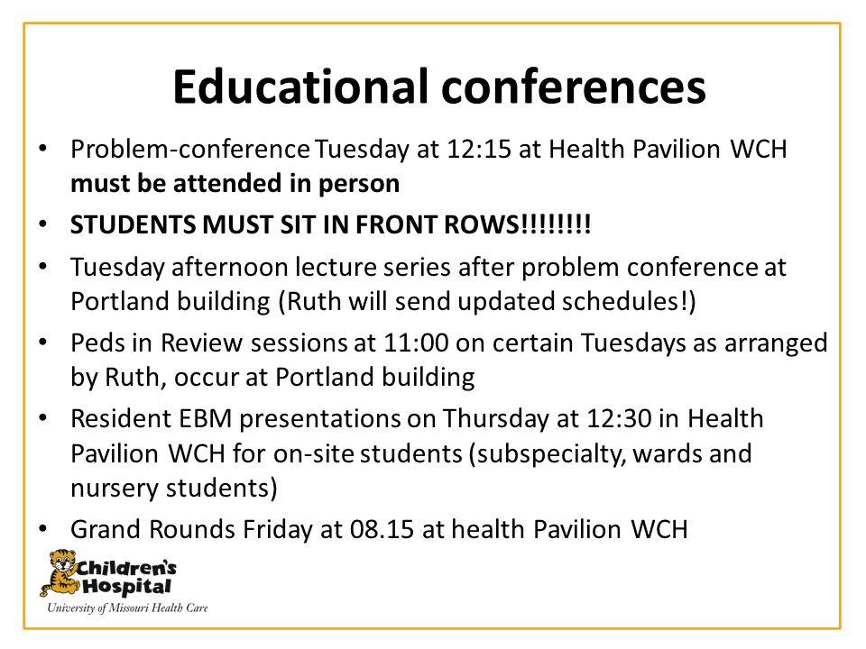 Educational conferences