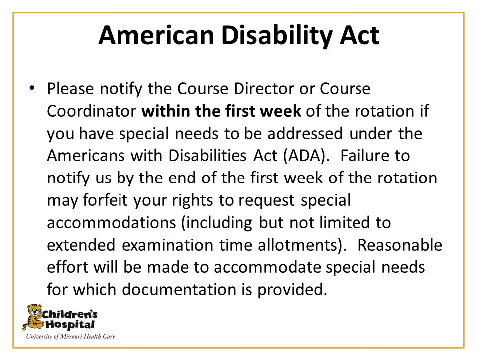 American Disability Act