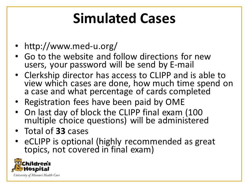 Simulated Cases http://www.med-u.org/