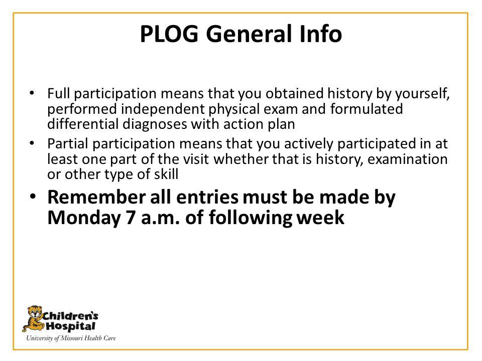PLOG General Info