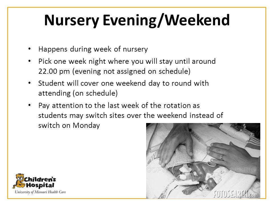 Nursery Evening/Weekend