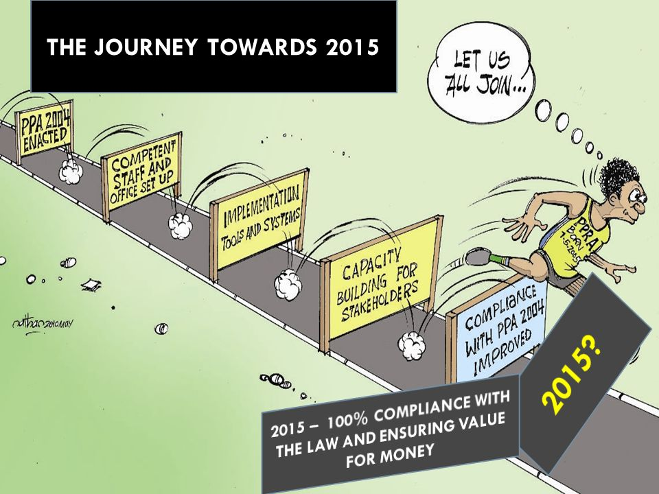 2015 – 100% COMPLIANCE WITH THE LAW AND ENSURING VALUE FOR MONEY