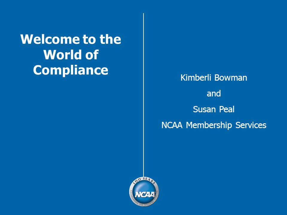 Welcome to the World of Compliance