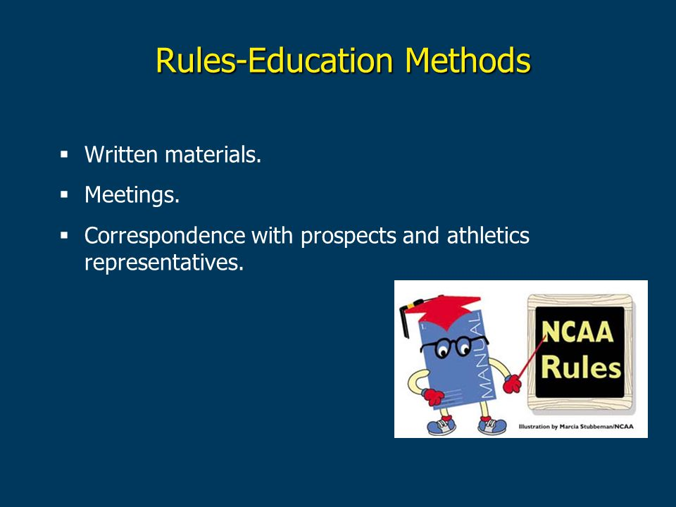 Rules-Education Methods