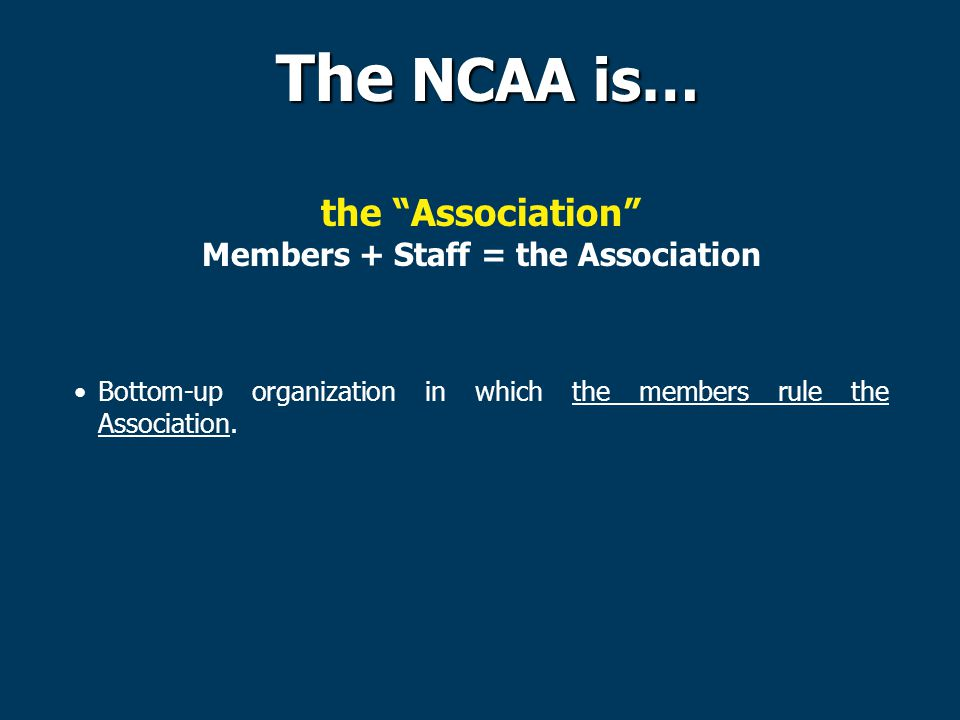 Members + Staff = the Association