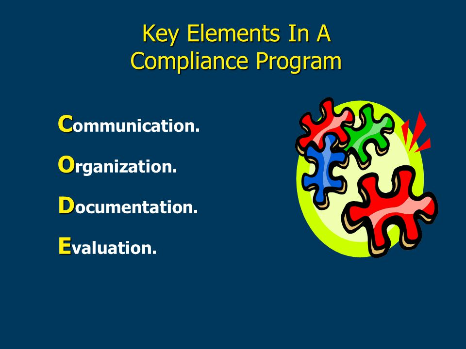 Key Elements In A Compliance Program
