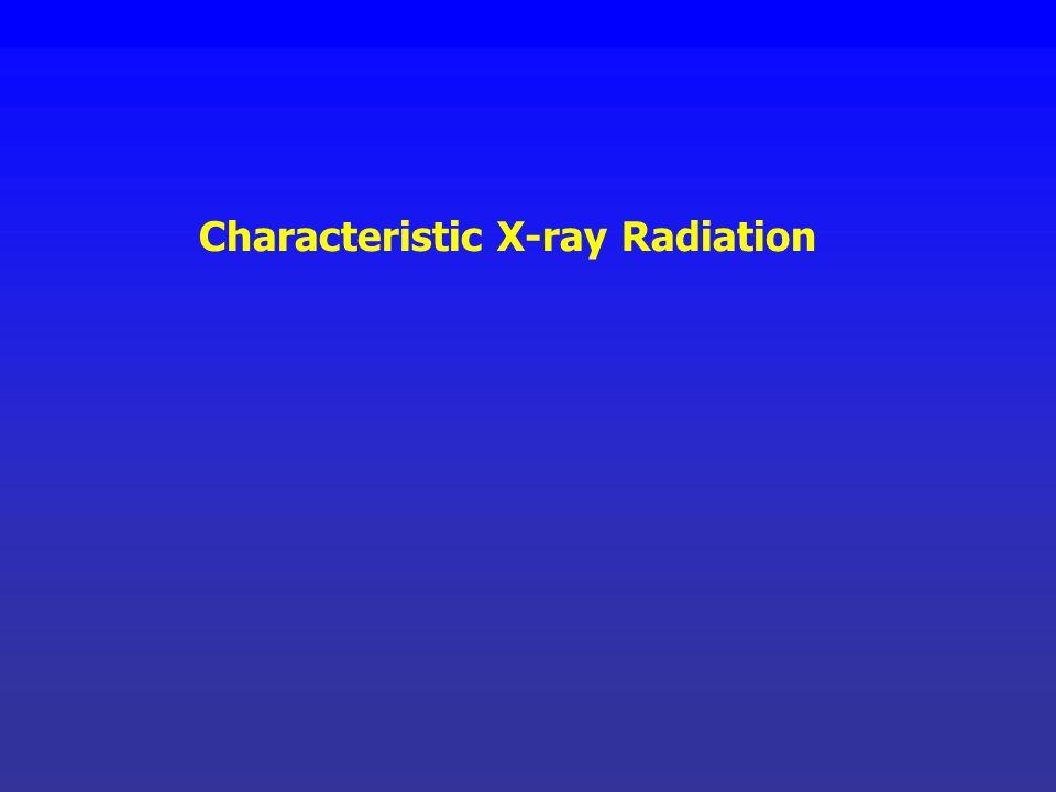 Characteristic X-ray Radiation
