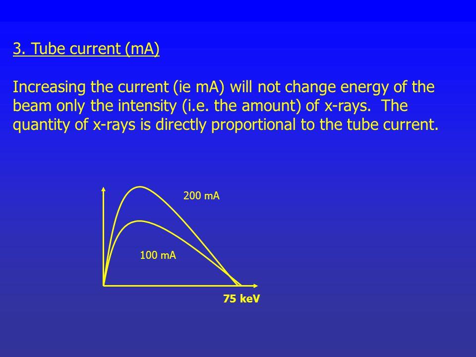 3. Tube current (mA)