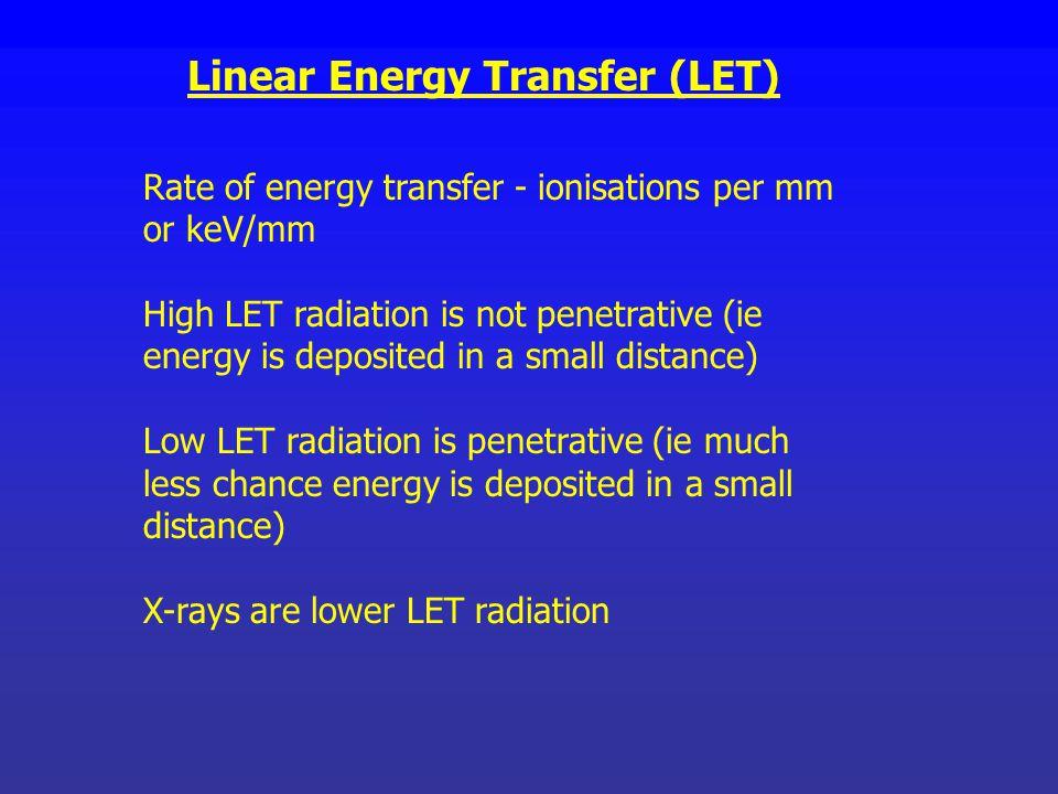 Linear Energy Transfer (LET)