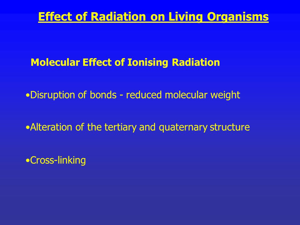 effect of ions on living organisms