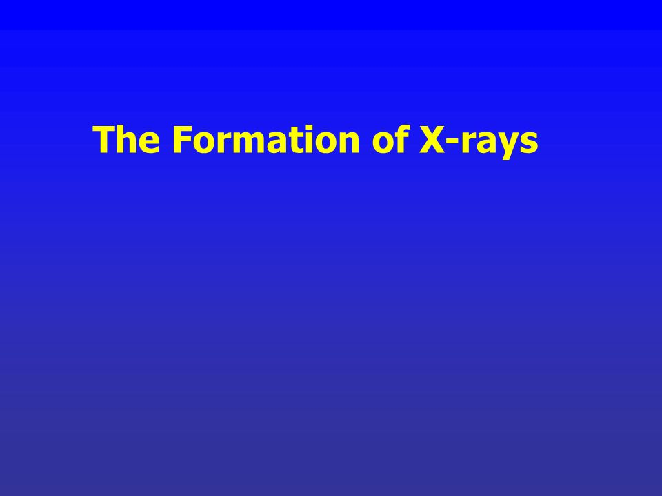 The Formation of X-rays