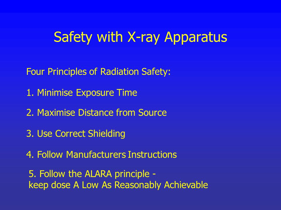Safety with X-ray Apparatus