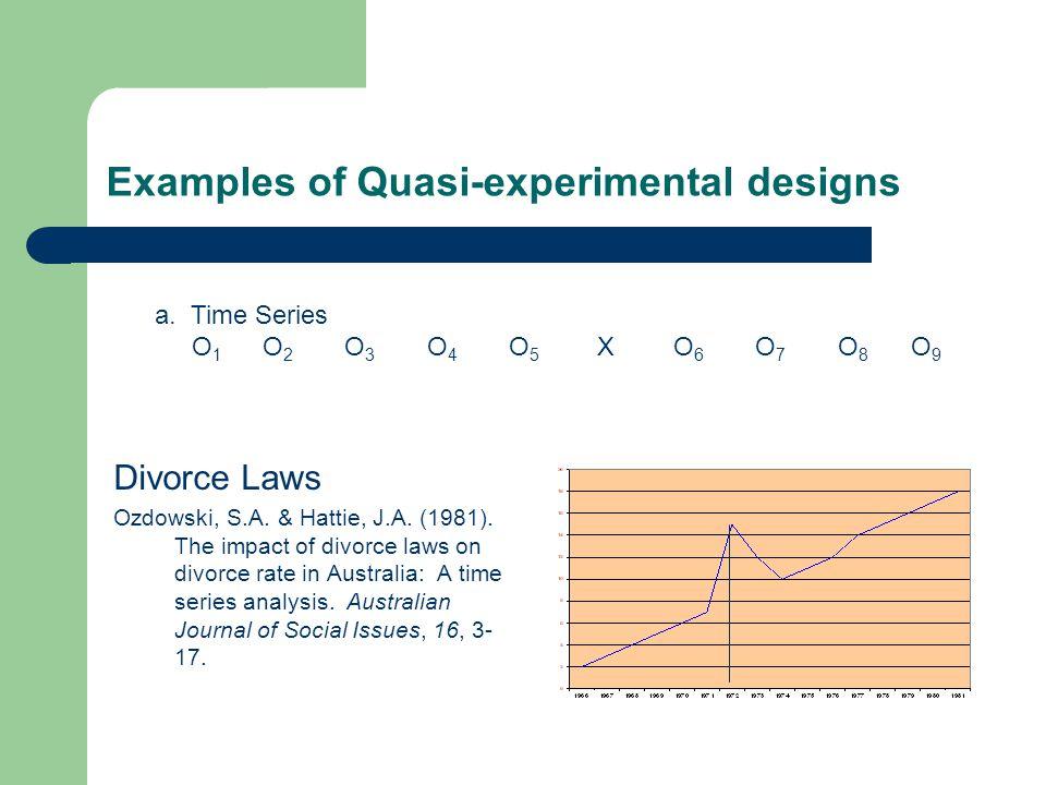 Examples of Quasi-experimental designs