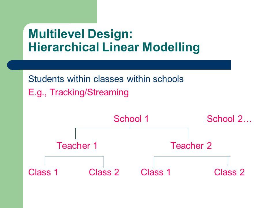 Multilevel Design: Hierarchical Linear Modelling