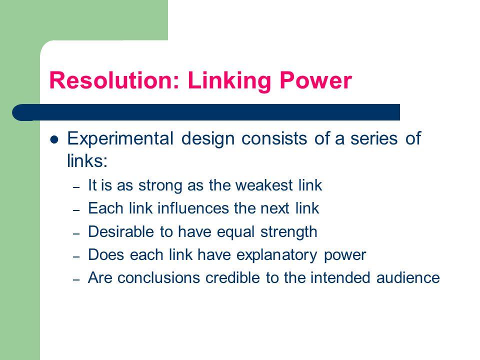 Resolution: Linking Power