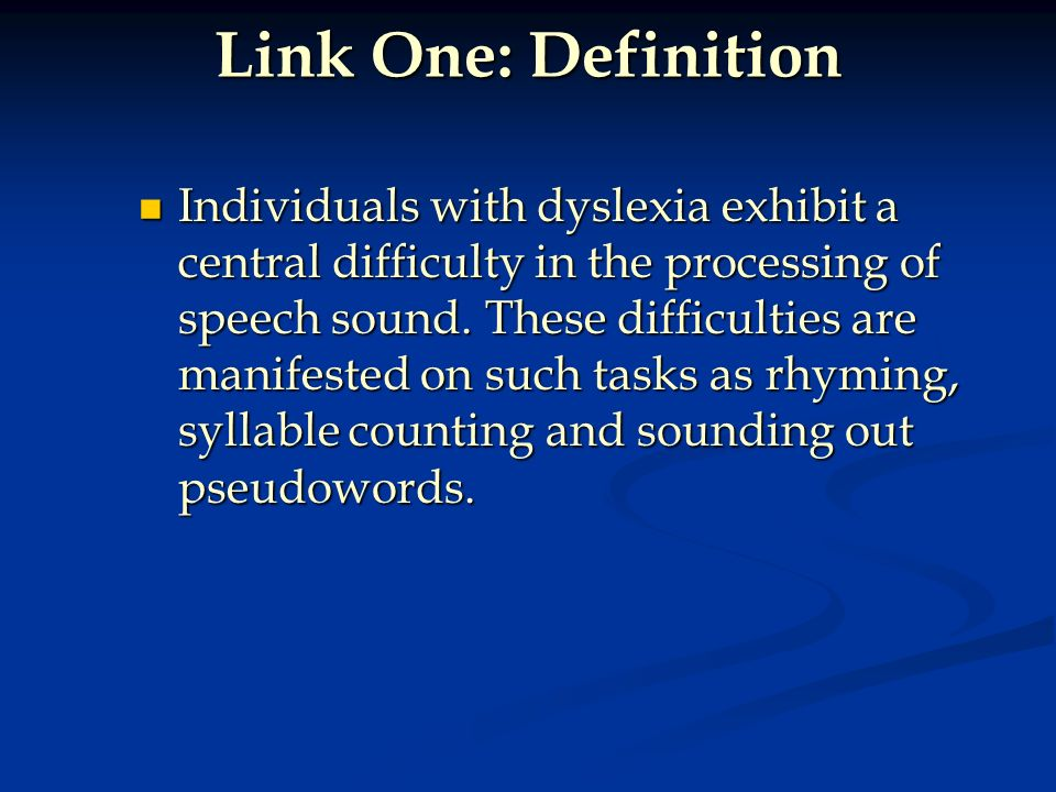 Link One: Definition