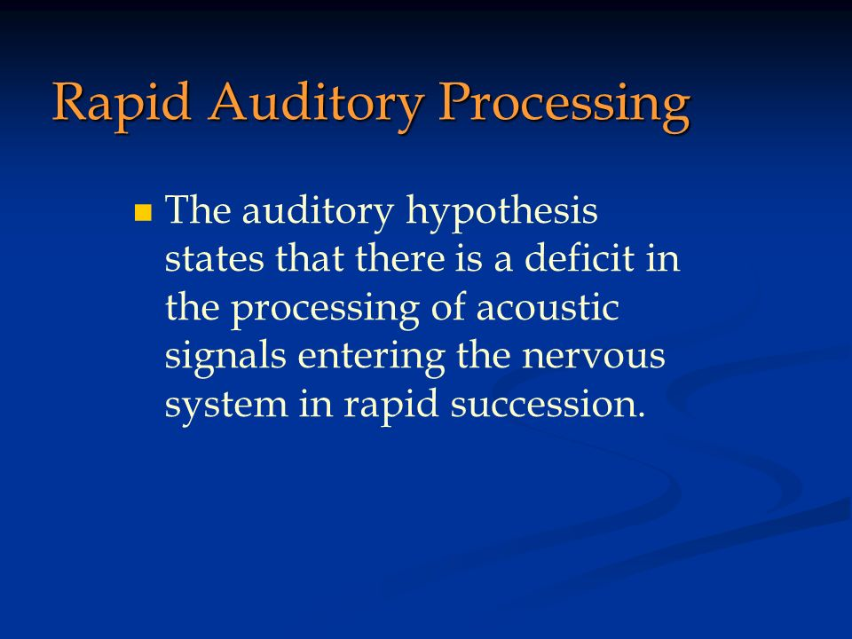 Rapid Auditory Processing