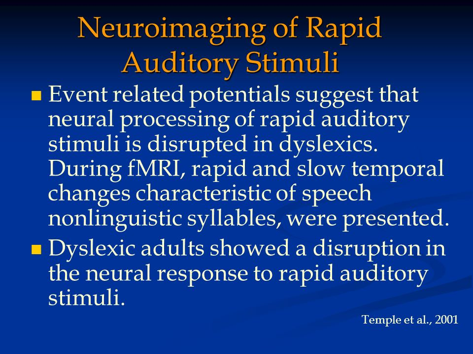 Neuroimaging of Rapid Auditory Stimuli