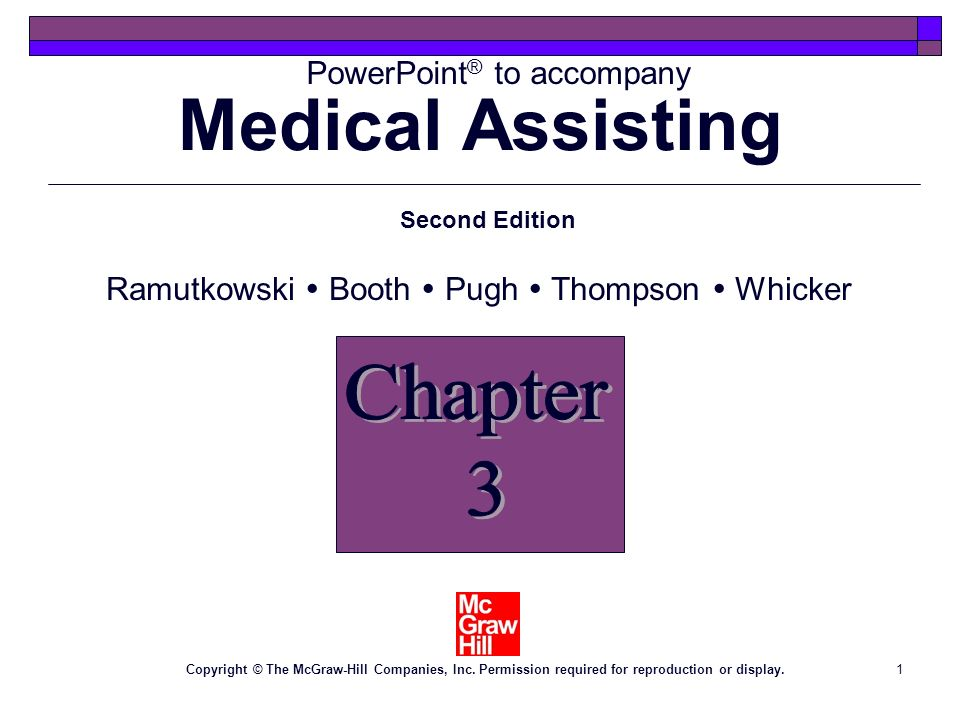 Medical Assisting Chapter 3