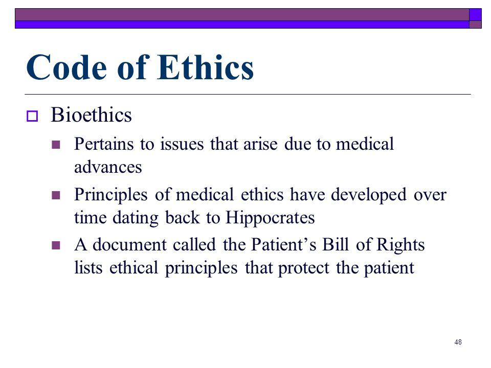 Code of Ethics Bioethics