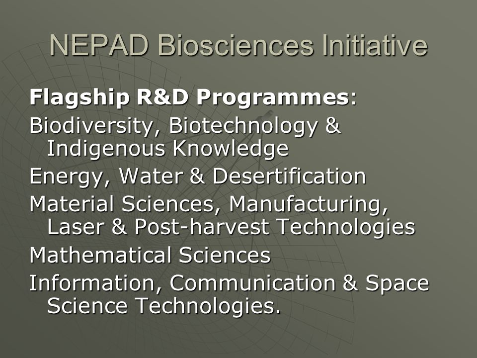 NEPAD Biosciences Initiative
