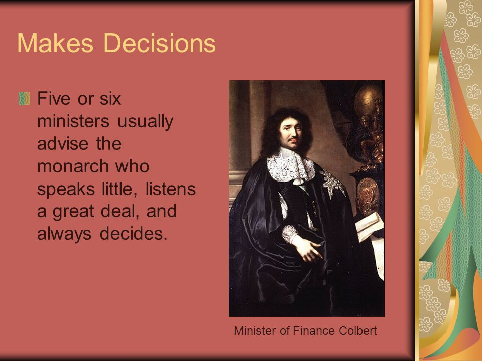 Minister of Finance Colbert