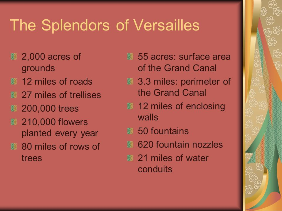 The Splendors of Versailles