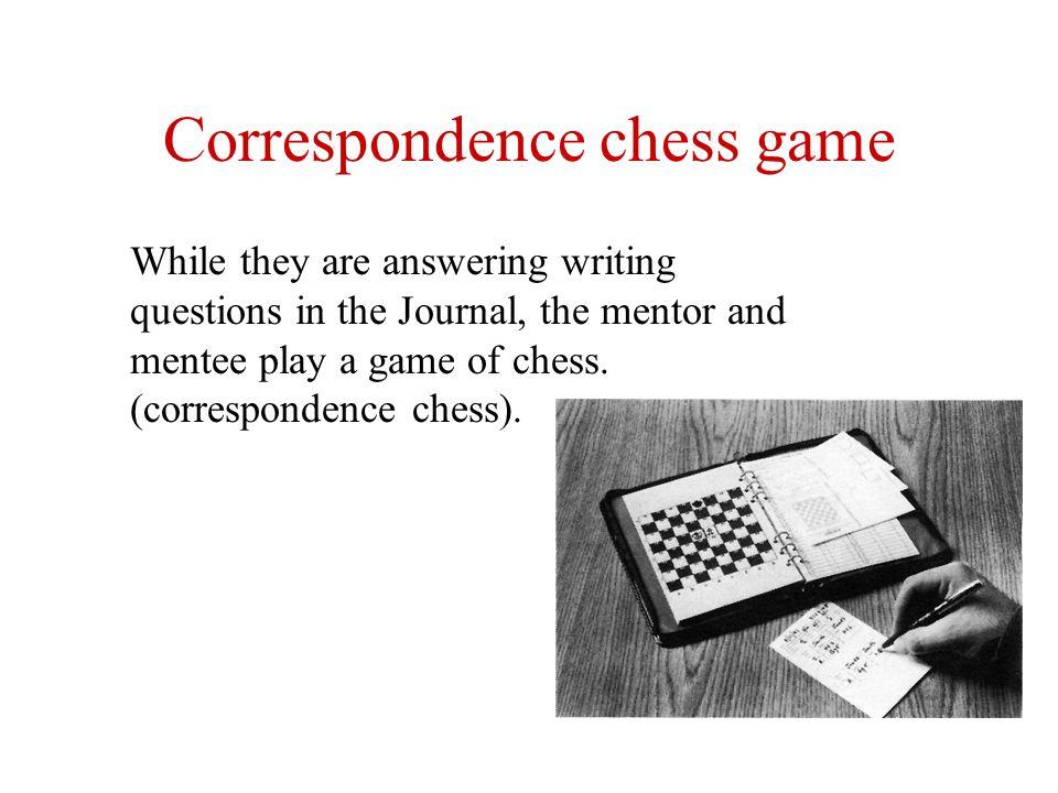 Correspondence chess game