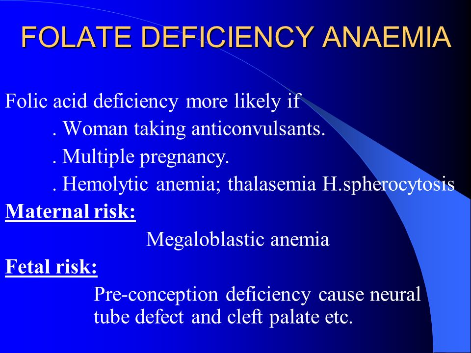 FOLATE DEFICIENCY ANAEMIA