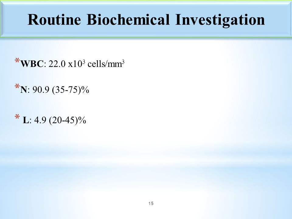 Routine Biochemical Investigation